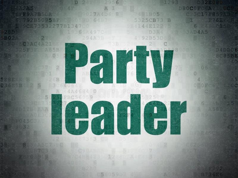 Polityczny pojęcie: Lider Partii na Cyfrowych dane papieru tle ilustracji