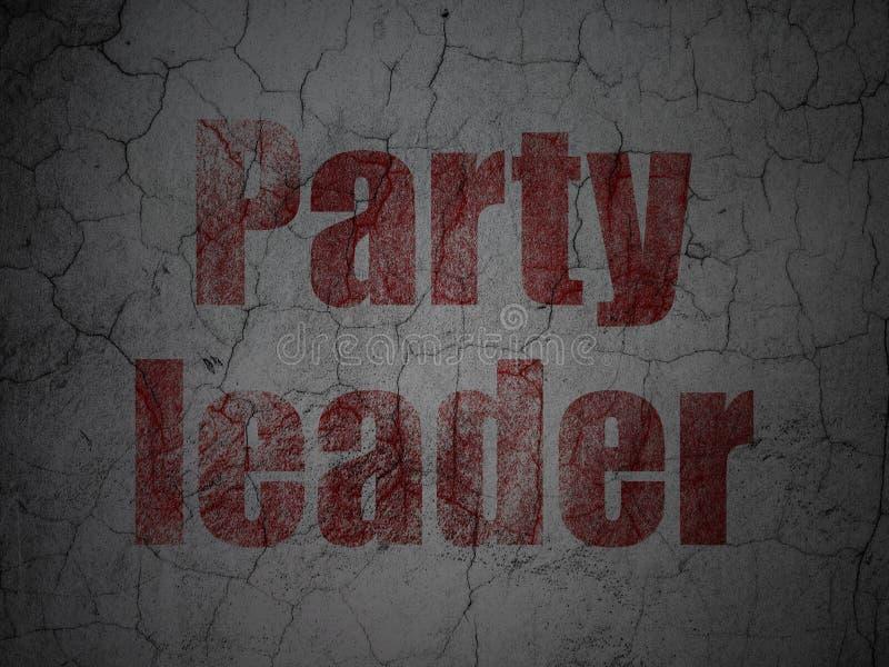 Polityczny pojęcie: Lider Partii na grunge ściany tle ilustracji