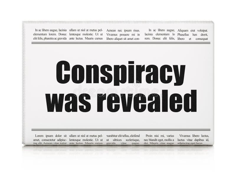 Polityczny pojęcie: nagłówka prasowego spisek Wyjawiał ilustracji