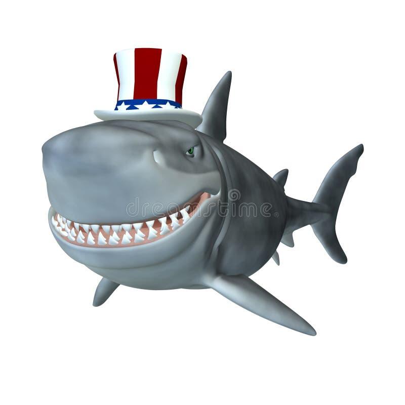 polityczny rekin ilustracja wektor