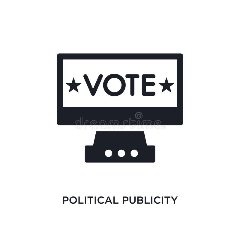 polityczny rozgłos na monitoru ekranu odosobnionej ikonie prosta element ilustracja od politycznych pojęcie ikon polityczny rozgł ilustracja wektor