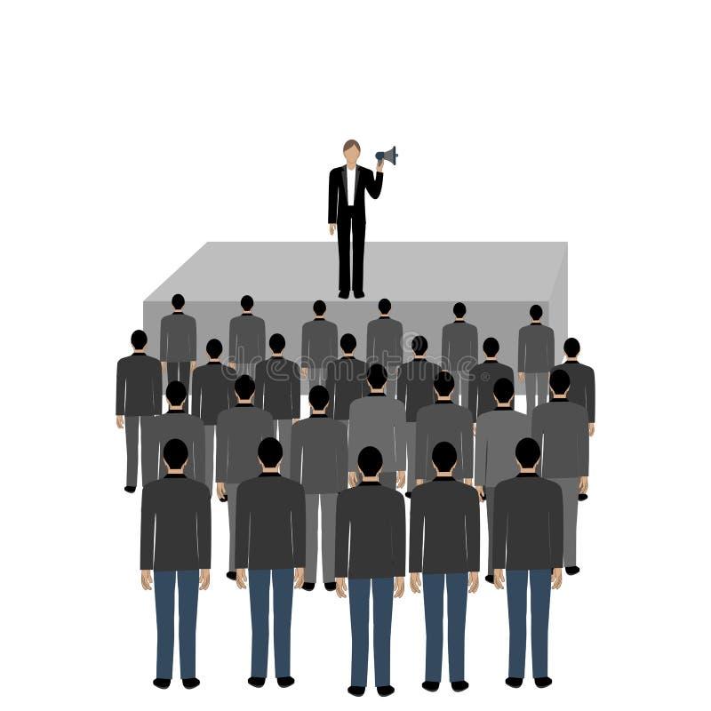 Polityczny tłumu spotkanie ilustracji