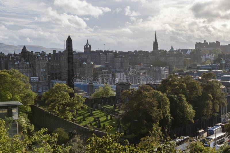 Politycznych męczenników Calton wzgórza Pomnikowy stary miejsce pochówku Edynburg fotografia royalty free