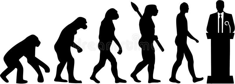 Polityk ewoluci wektor ilustracja wektor