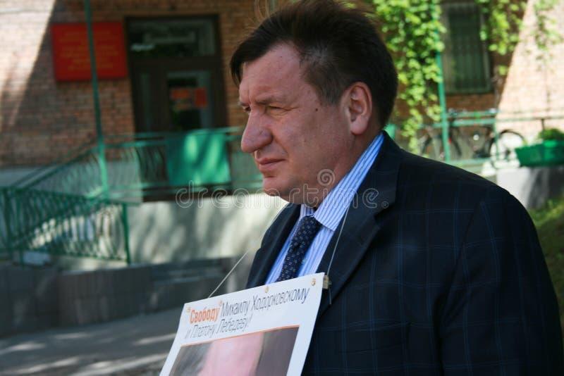 Download Polityk Ivan Starikov Protestować W Poparciu Dla Khodorkovsky Obraz Editorial - Obraz złożonej z human, moscow: 57669775