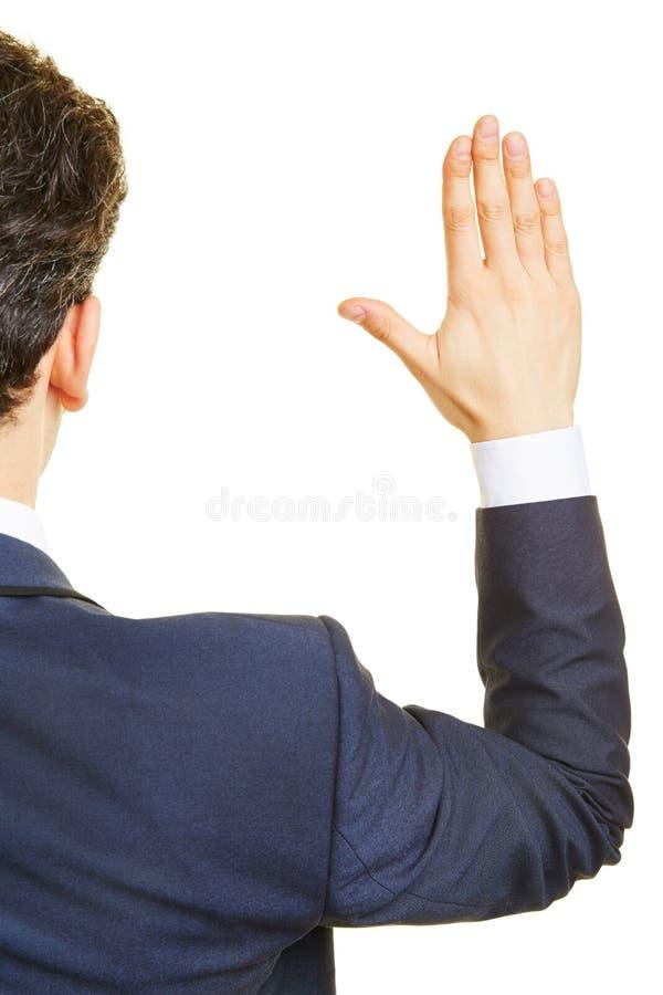 Polityka udźwigu ręka dla ślubowania obrazy stock