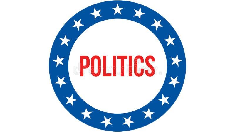 Polityka wybory na usa tle, 3D rendering Zlani stany Ameryka zaznaczają falowanie w wiatrze Głosujący, wolności demokracja, ilustracja wektor