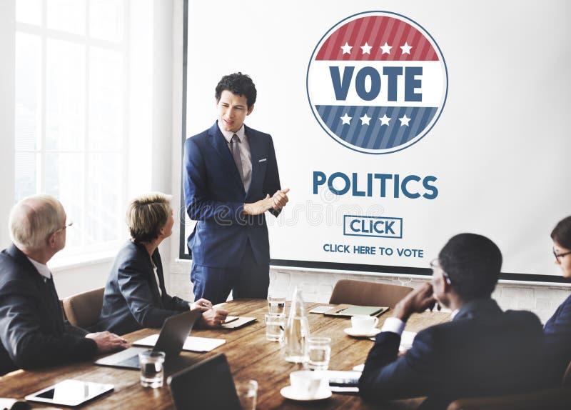 Polityki głosowania wybory rzędu przyjęcia pojęcie zdjęcia royalty free