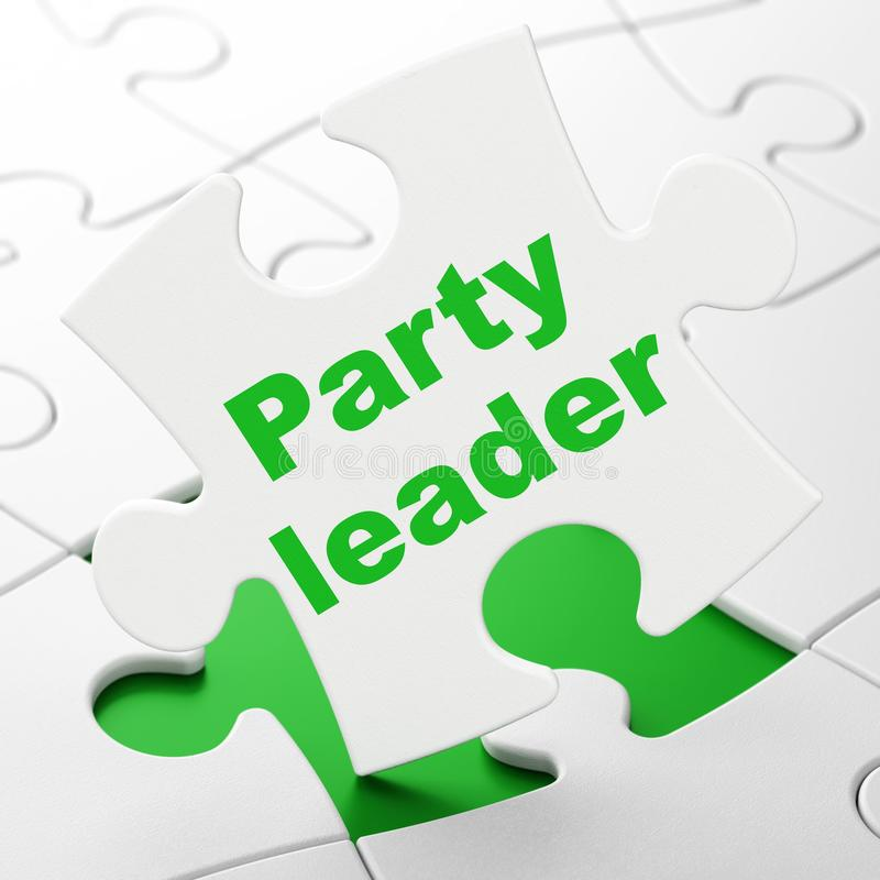 Polityki pojęcie: Lider Partii na łamigłówki tle ilustracja wektor