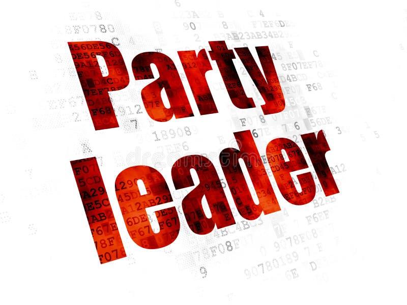 Polityki pojęcie: Lider Partii na Cyfrowego tle ilustracja wektor