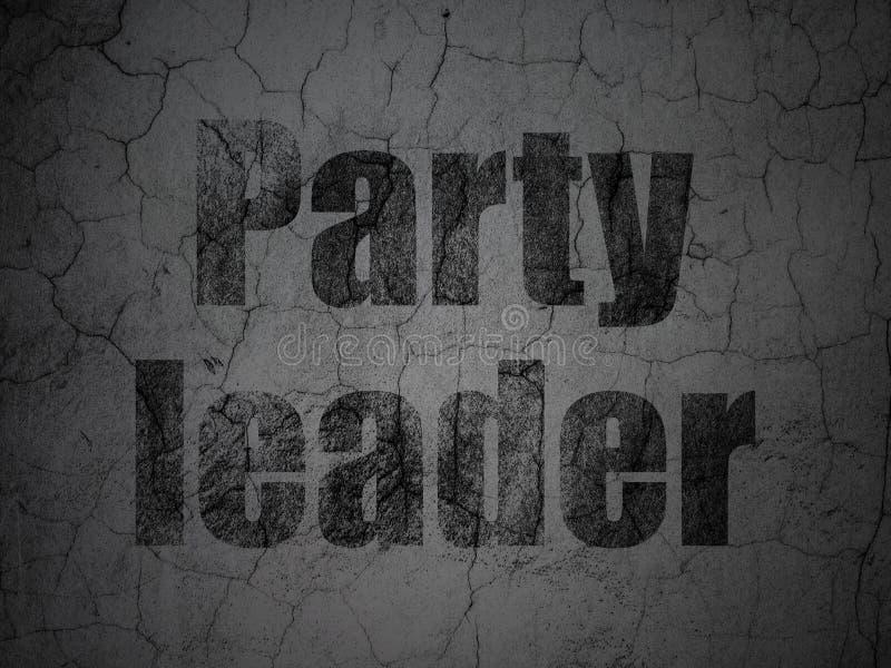 Polityki pojęcie: Lider Partii na grunge ściany tle ilustracja wektor