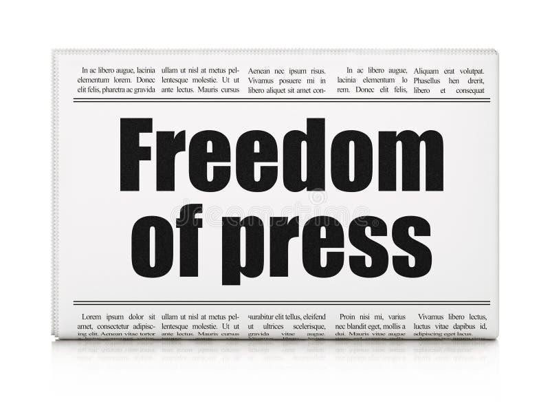 Polityki pojęcie: nagłówek prasowy wolność prasa royalty ilustracja