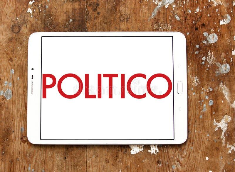 Politykiera dziennikarstwa firmy polityczny logo obraz stock