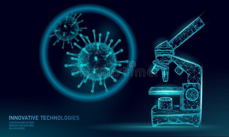 Polivinílicos bajos del virus 3D del microscopio rinden Gripe de la gripe del virus de hepatitis de la enfermedad crónica de la i libre illustration