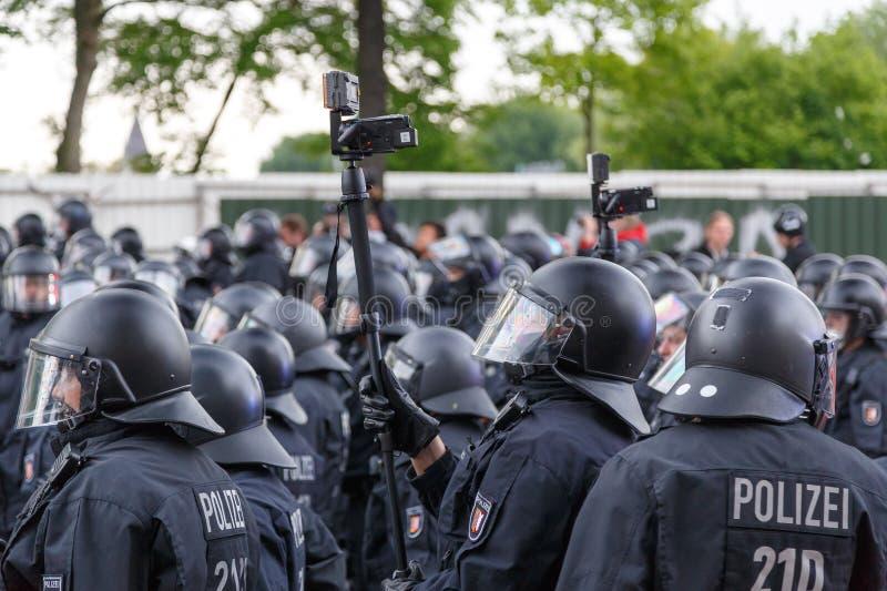 Polizei-Überwachung in Hamburg lizenzfreie stockfotos