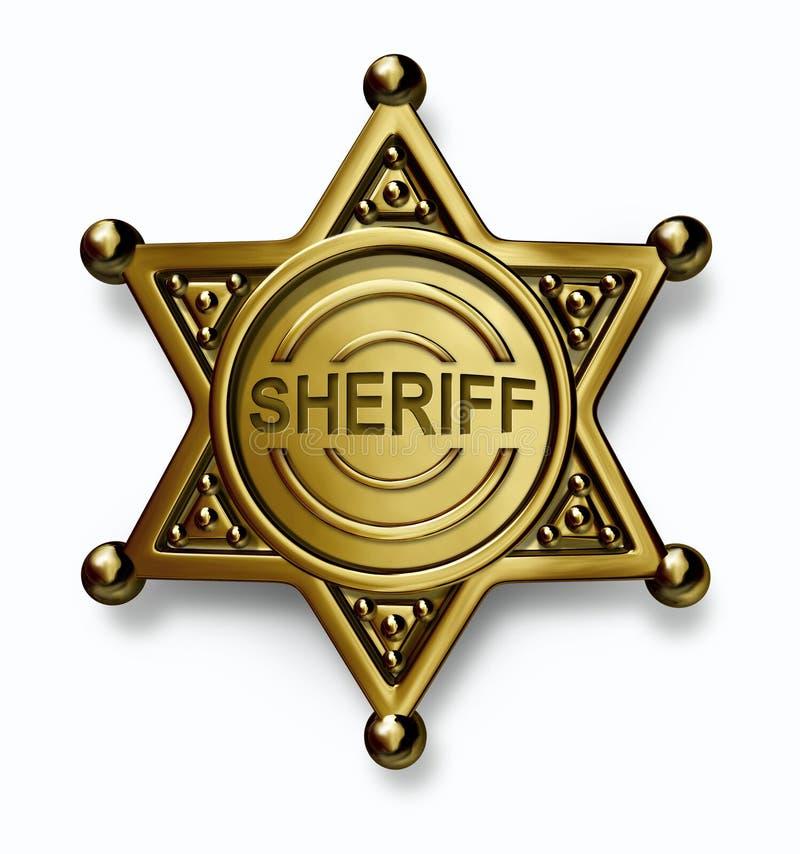 Polizei Badge stock abbildung