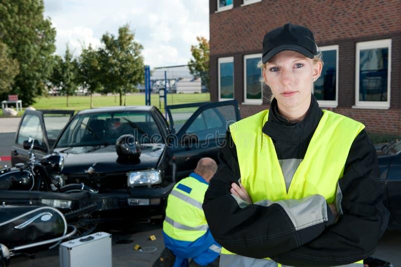 Polizei-Frau stockfoto