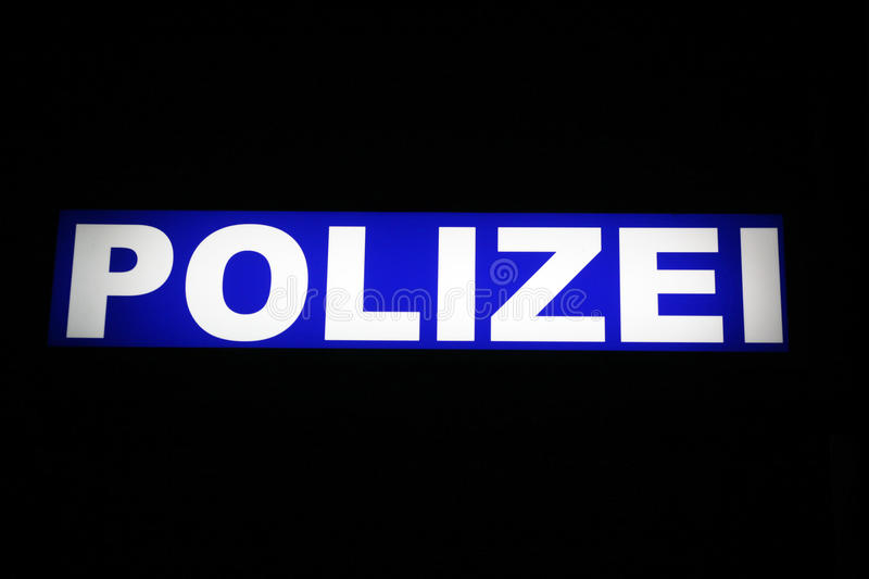 Polizei, German police stock photo