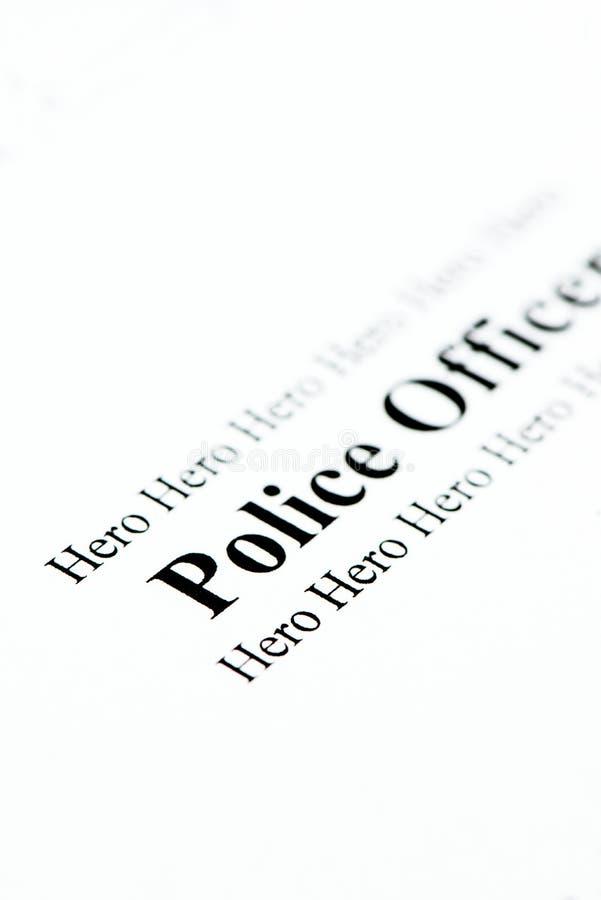 Polizei-Held lizenzfreie stockfotos
