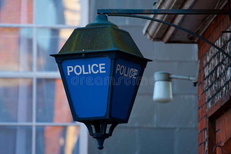 Polizei kennzeichnet stockbild