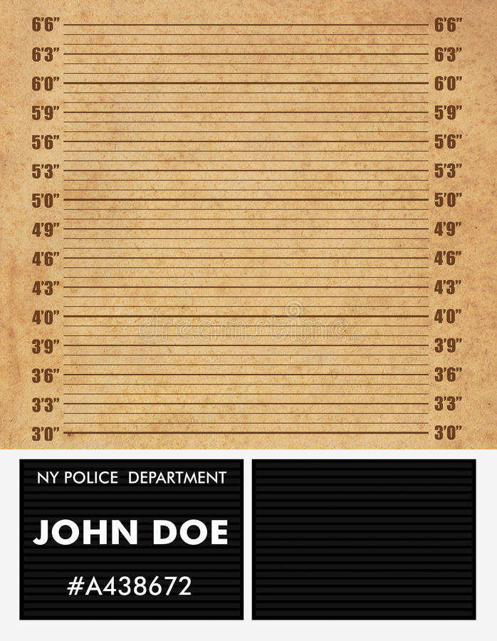 Polizei Mugshothintergrund Stockbilder