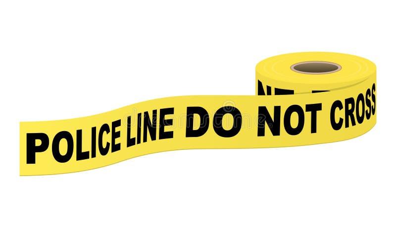 Polizei nimmt mit Text auf Band auf stock abbildung