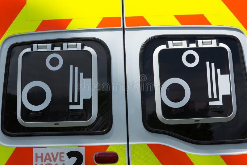 Polizei Schottland speed camera van signs lizenzfreie stockbilder