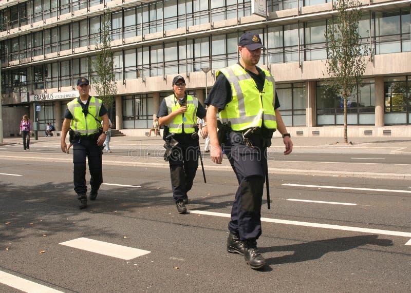 Polizei-Team auf Patrouille lizenzfreie stockfotografie