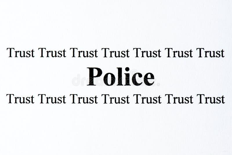 Polizei vertraut stockfotografie
