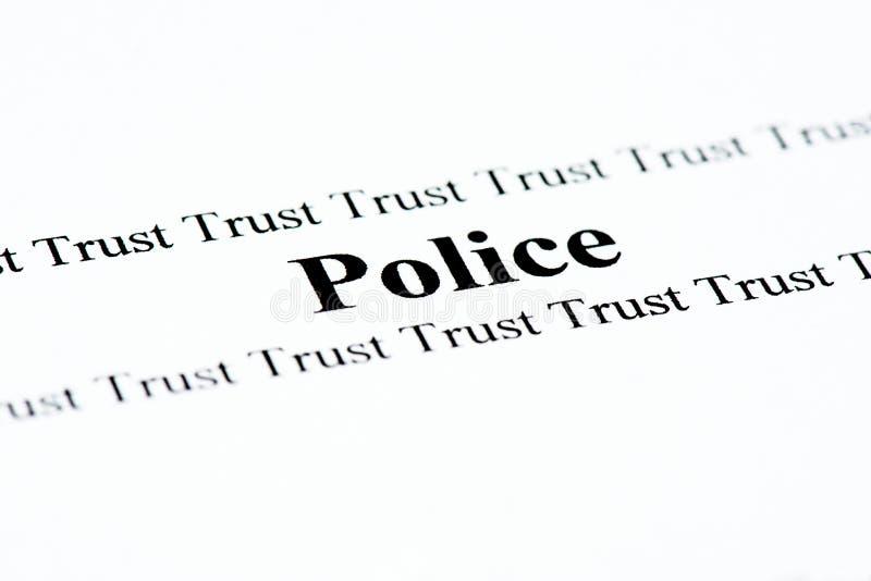 Polizei vertraut lizenzfreie stockfotos