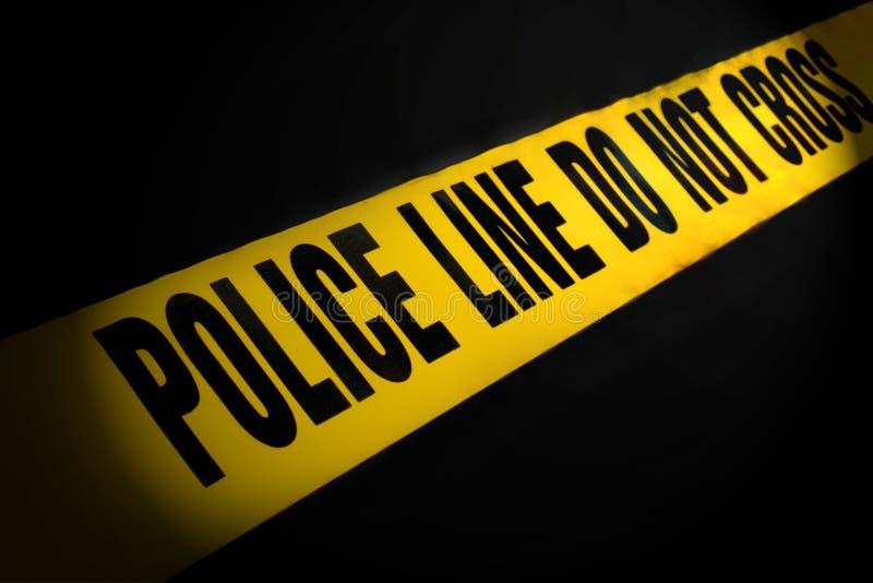 Polizei-Zeile Band lizenzfreies stockbild