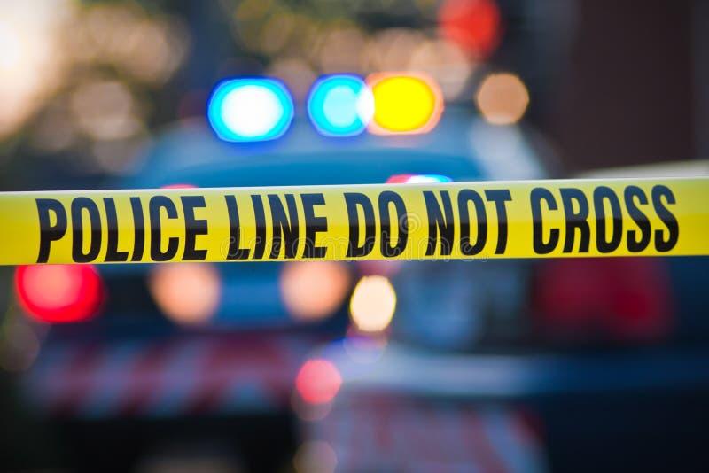 Polizei-Zeile kreuzen nicht stockfotografie