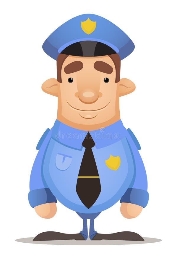 Polizeibeamte lizenzfreie abbildung