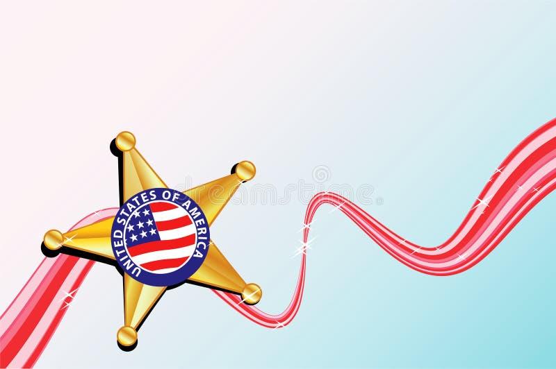 Polizeichef-Abzeichen vektor abbildung