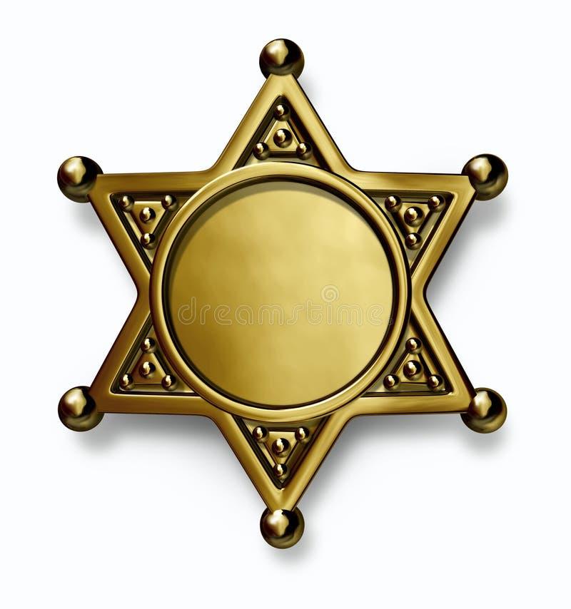 Polizeichef-Abzeichen lizenzfreie abbildung