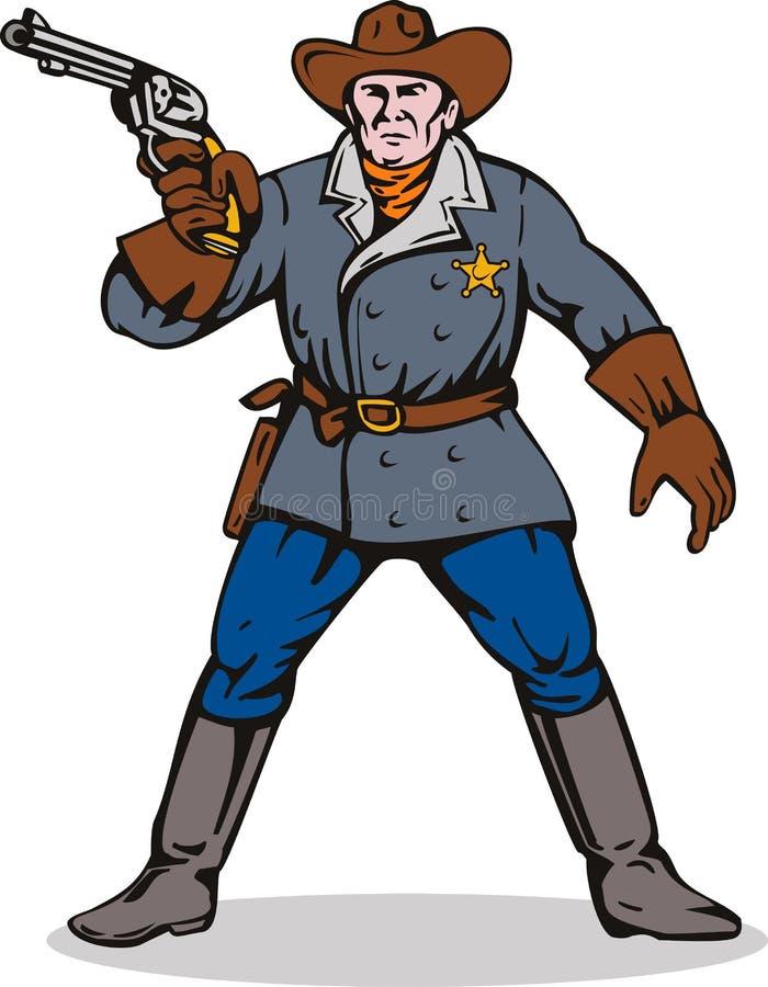 Polizeichef, der eine Gewehr zielt vektor abbildung