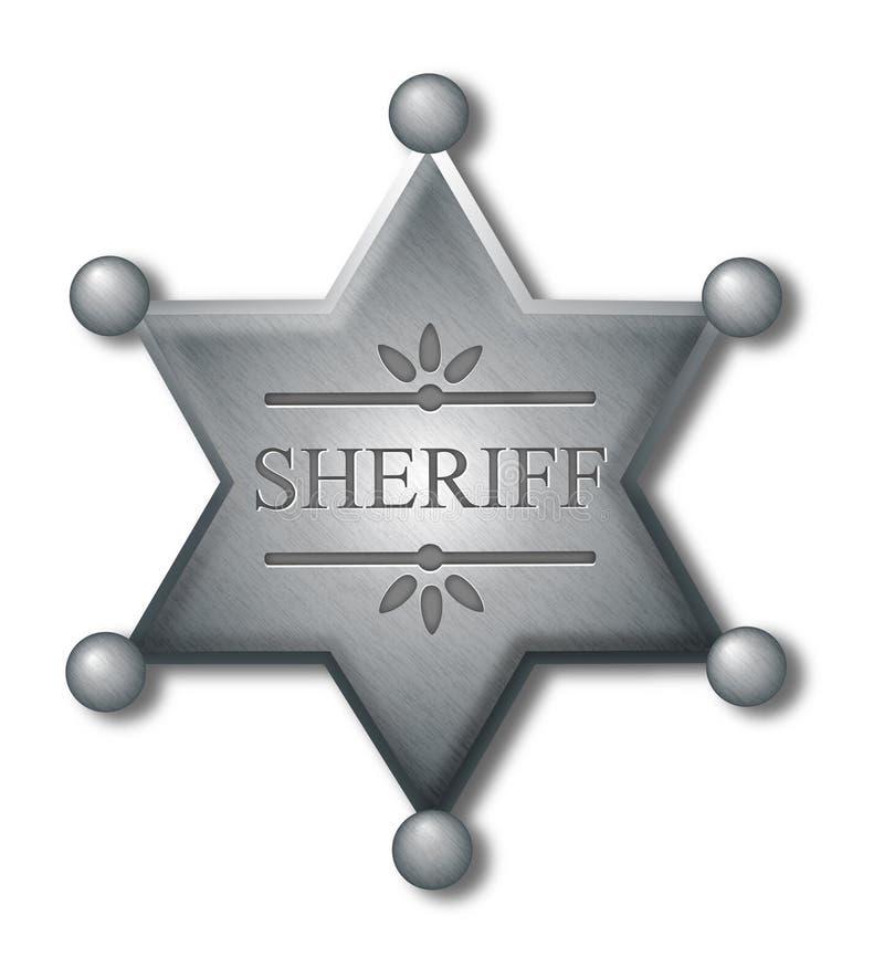 Polizeichefabzeichen lizenzfreie abbildung