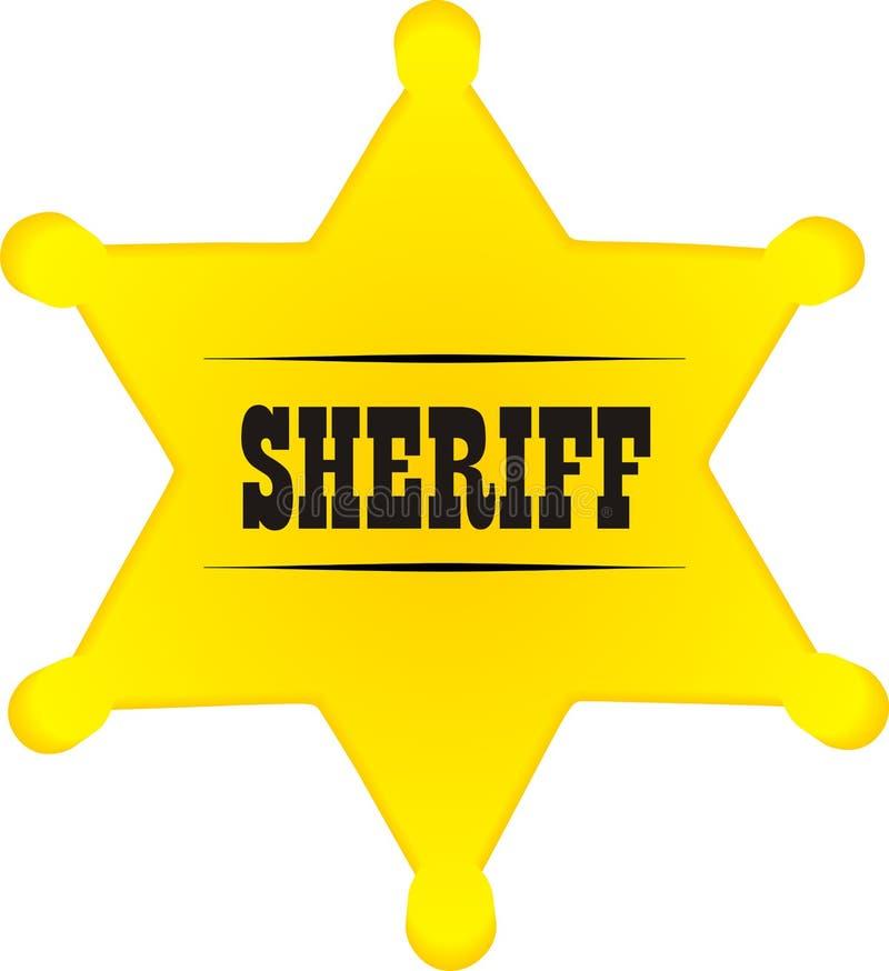Polizeichefabzeichen vektor abbildung