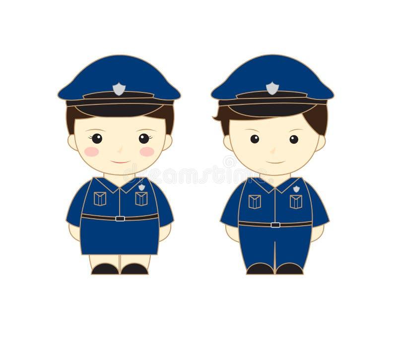 Polizeikarikatur vektor abbildung