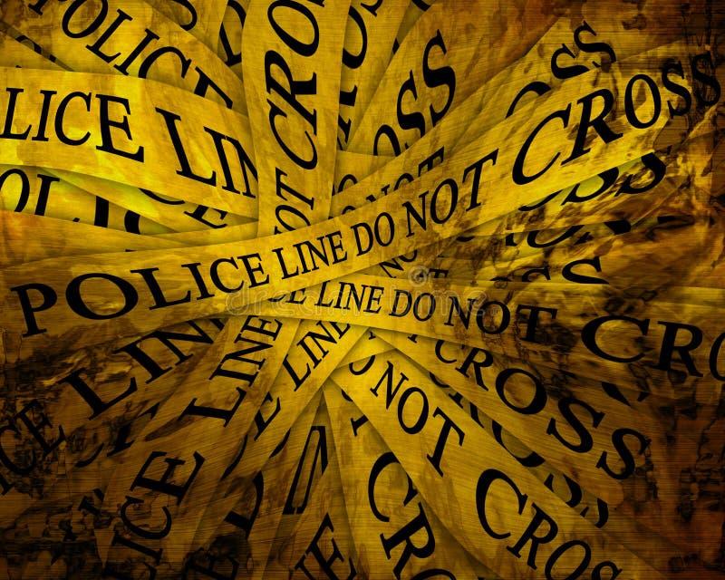 Polizeiliche Untersuchung lizenzfreie abbildung
