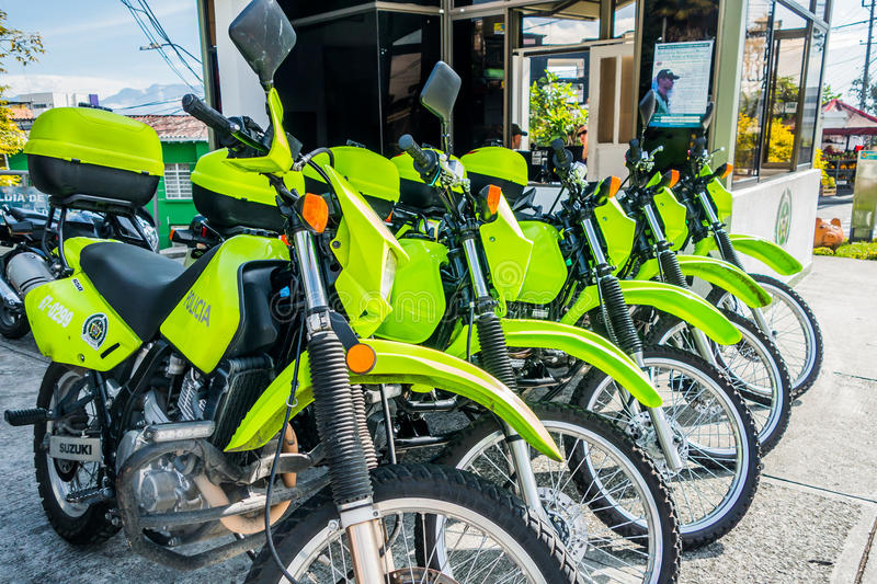 Polizeimotorräder in Manizales, Kolumbien stockfoto