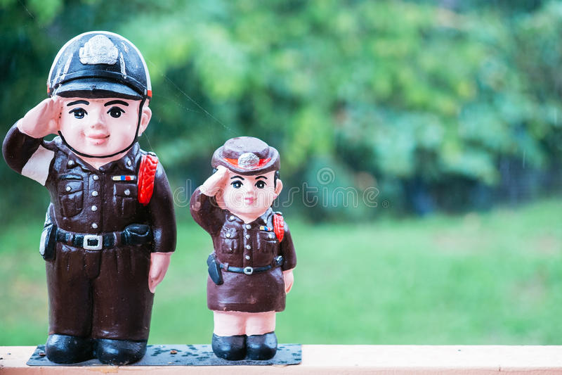 Polizeipuppe lizenzfreies stockbild