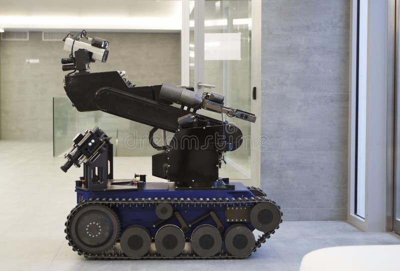 Polizeiroboter stockbilder
