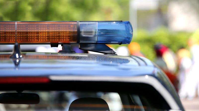 Polizeisirene weg lizenzfreies stockfoto