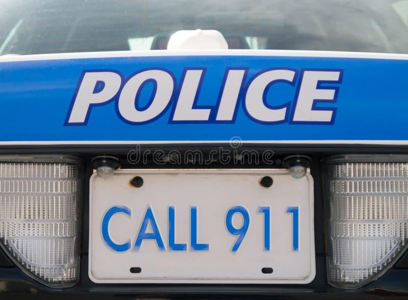 Polizeiwagen 911 lizenzfreies stockfoto