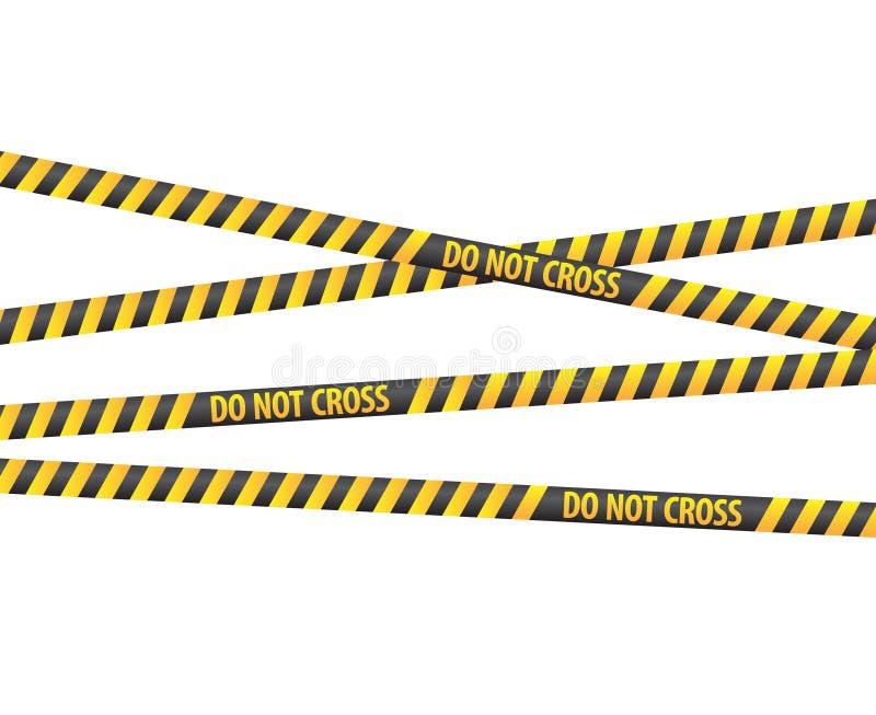 Polizeizeile Bänder stock abbildung