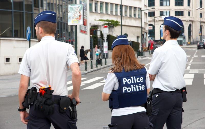 Polizia del Belgio fotografia stock libera da diritti