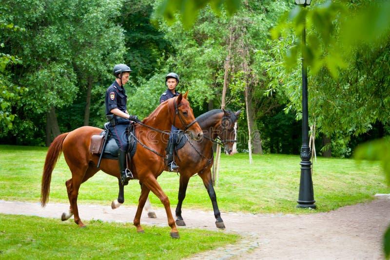 Polizia del cavallo fotografia stock