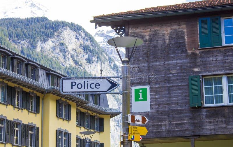 Polizia del puntatore Simbolo fotografia stock libera da diritti