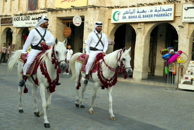 Polizia del souq di Doha fotografie stock libere da diritti